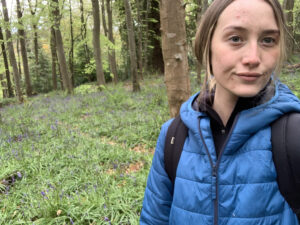 Stacy in the forest at Castle Ward
