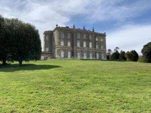 The back of Castle Ward Mansion